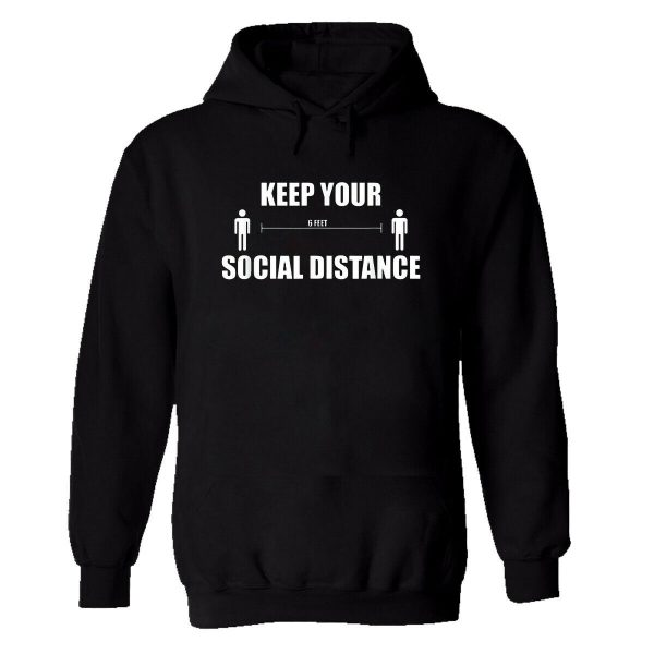 Keep Your Social Distance Mens Hoodie Jumper Pandemic Attack Safety Panic