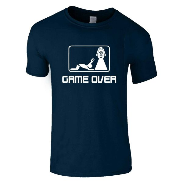 Game Over Groom Funny Stag Do Party Wedding T Shirt