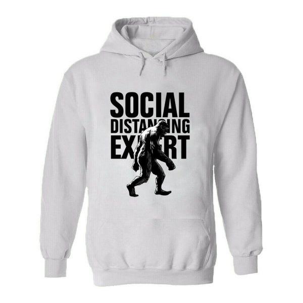 Mens Hoodie Social Distancing Self Isolation Stay Safe Strong Pandemic