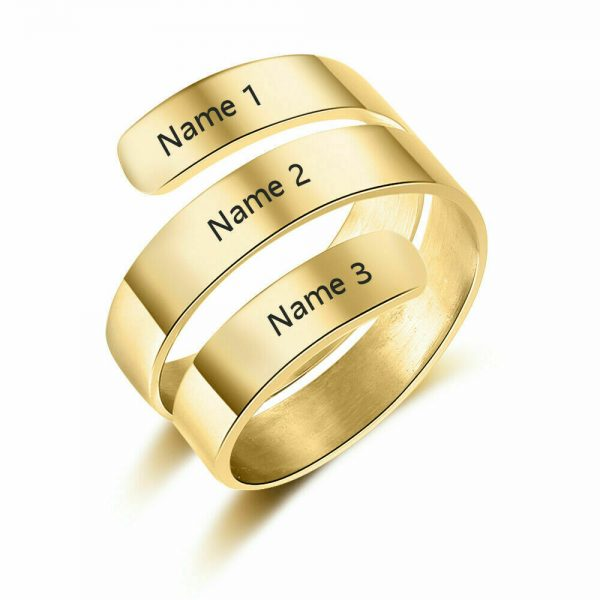 PERSONALISED THREE NAME RING