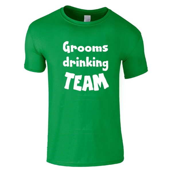 Grooms Drinking Team Stag Do Party Wedding T Shirt
