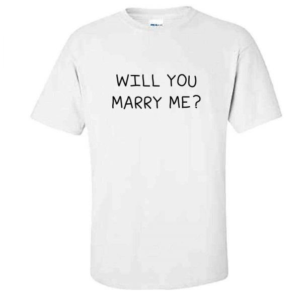 Mens WILL YOU MARRY ME? Tshirt - Cute Engagement Wedding Proposal Idea