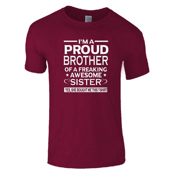 I'm A Proud Brother Of A Freaking Awesome Sisters MEN'S TOP TEES