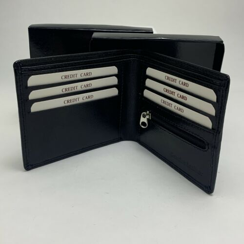PERSONALISED J S REAL GENIUIN LEATHER MONEY WALLET Black