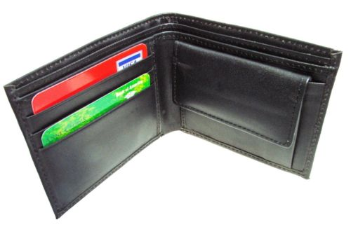 PERSONALISED MENS WALLET WITH ONE NAME OUTSIDE AND ONE SHORT IMAGE