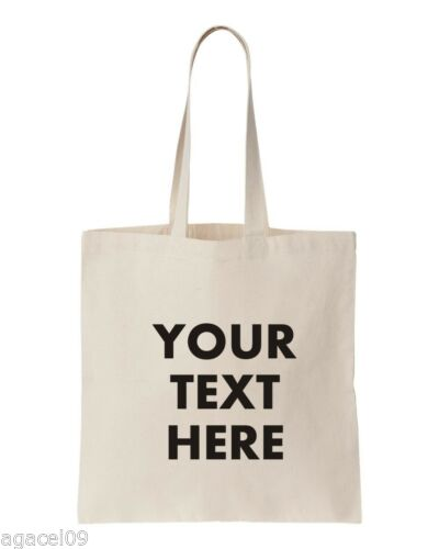PERSONALISED YOUR TEXT HERE SHOPPER TOTE BAG - White
