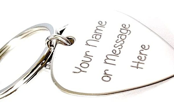 CUSTOM ANY MESSAGE PERSONALISED KEYCHAIN
