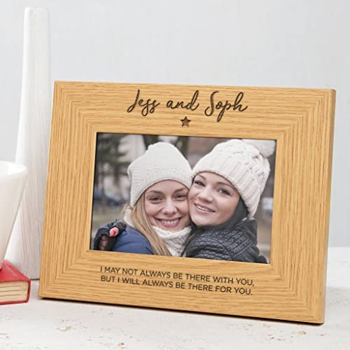 PERSONALISED WOODEN ENGRAVED PICTURE FRAME NAME TEXT HERE - Brown