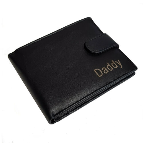 PERSONALISED MENS LEATHER WALLET DADDY