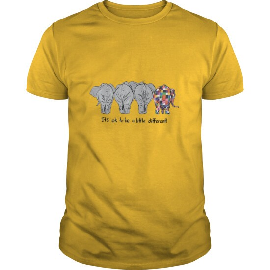 IT'S OK TO BE A LITTLE DIFFERENT LGBT ELEPHANT PRIDE T-SHIRT