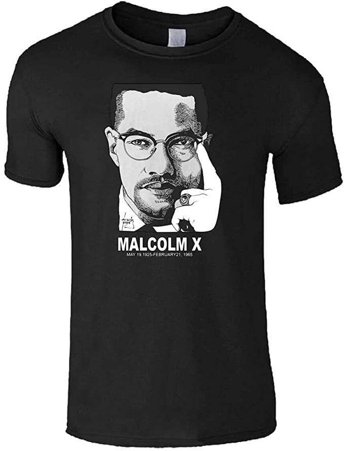 Malcolm X Geroge Floyd T-shirts for Men's