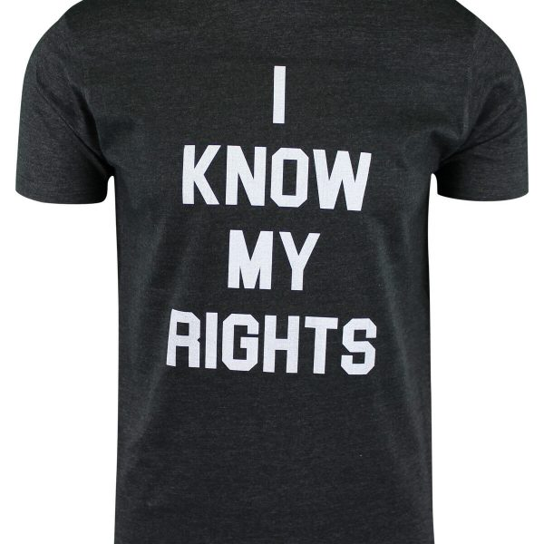 ShirtBANC I Know My Rights Mens T Shirts Police Brutality Black Lives Matter